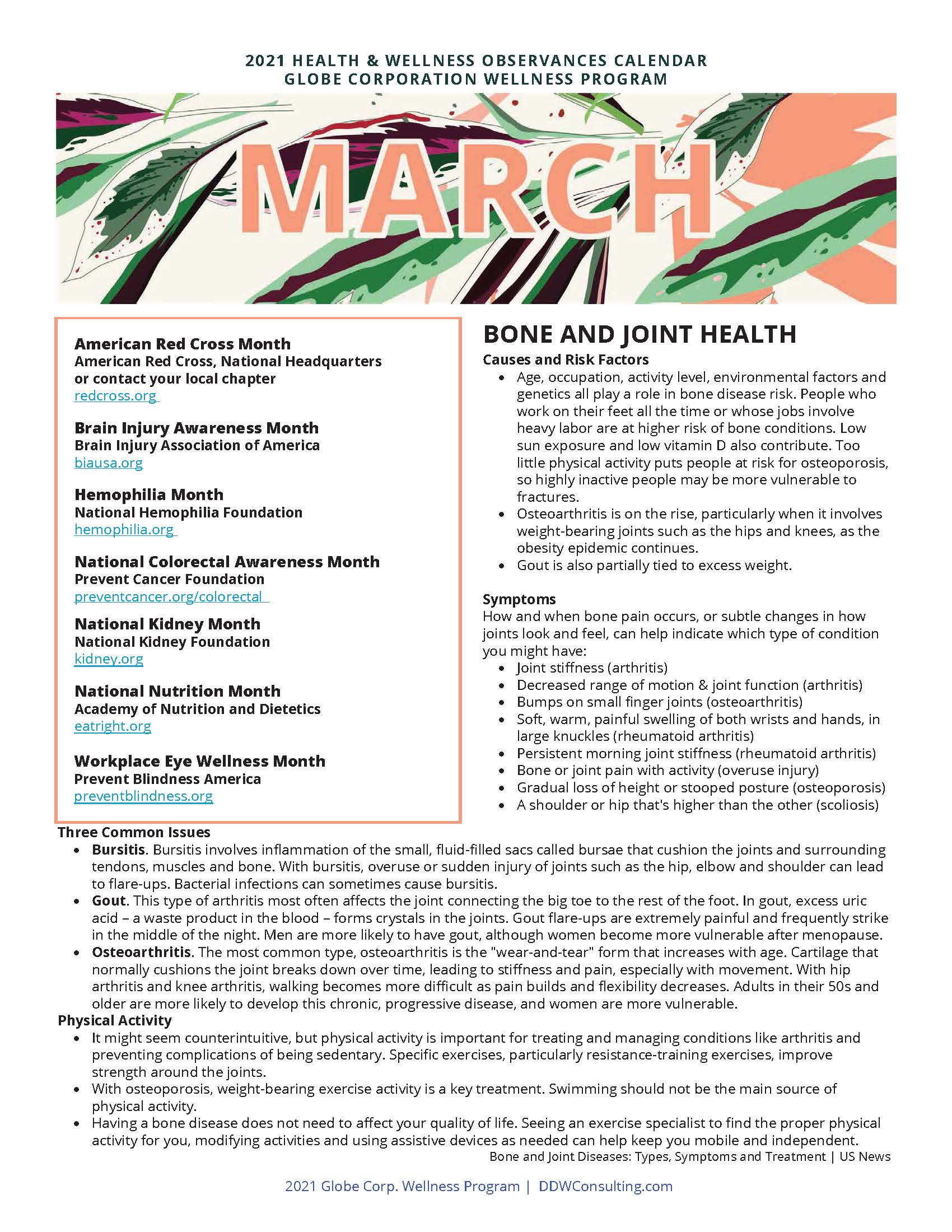 2021 3 March Wellness Education Flyer